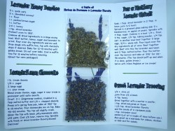 the inside of our recipe samplers